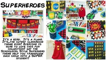 Classroom Decor Superheroes - Full Collection Bundle
