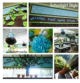 Classroom Decor Sweet Blue Bird - Full Collection