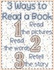 *Classroom Decor* - TRIBAL PRINT Daily 5 Signs - 3 Ways to Read a Book and IPICK