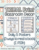 *Classroom Decor* - TRIBAL PRINT Daily 5 Signs - 3 Ways to