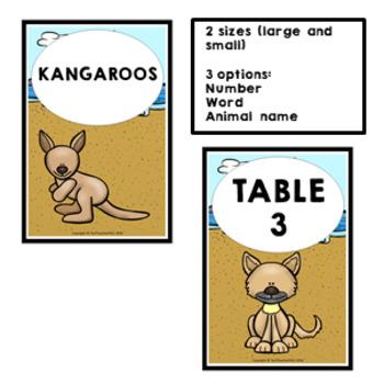 AUSTRALIA Classroom Decor Table Signs