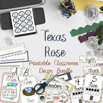 Classroom Decor - The Texas Rose