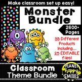Classroom Decor Theme Bundle ~ Monster