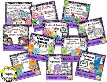 Classroom Decor Theme Bundle ~ Monster