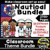 Classroom Decor Theme Bundle ~ Nautical