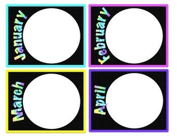 *Classroom Decor* - Tie Dye Birthday Pieces for Bulletin Board or Display