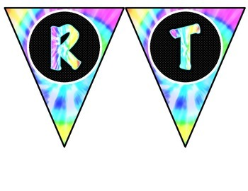 *Classroom Decor* - Tie Dye Birthday Pieces for Bulletin Board or Display