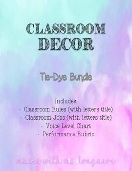 Classroom Decor Tie Dye Bundle!