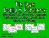*Classroom Decor* -Tie Dye Daily 5 Signs