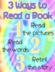 *Classroom Decor* - Tie Dye Daily 5 Signs - 3 Ways to Read a Book and I PICK