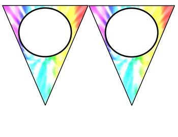 *Classroom Decor* - Tie Dye Subject Area Banners