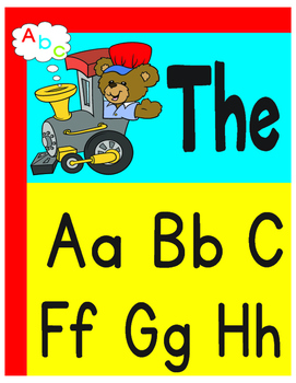 Classroom Decoration Train Alphabet Poster