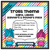 Classroom Decor Troll Theme (Troll Posters, Signs, Labels
