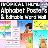 Classroom Decor Tropical Alphabet Posters and Word Wall Set