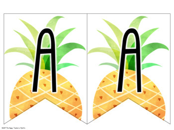 Classroom Decor Tropical Banner *Editable*