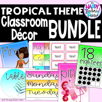 Classroom Decor Tropical Bundle