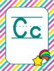 Classroom Decor Unicorns Alphabet Posters Manuscript
