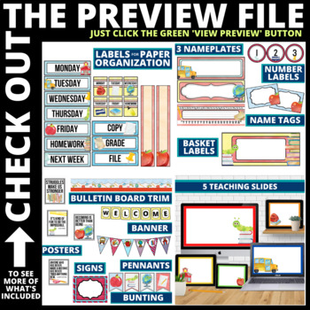 WHIMSY THEME Classroom Decor - EDITABLE Clutter-Free Classroom Decor BUNDLE