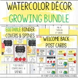 Classroom Decor Watercolor Growing Bundle