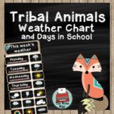Classroom Decor - Weather Chart - Tribal Animal Theme