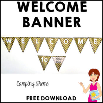 Classroom Decor Welcome Banner CAMPING FREE DOWNLOAD