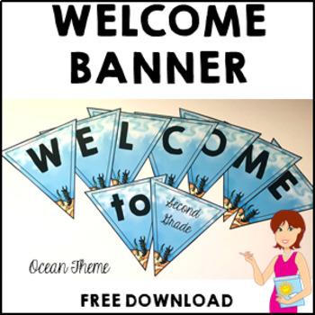 Classroom Decor Welcome Banner OCEAN FREE DOWNLOAD