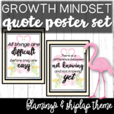 Growth Mindset Posters with BONUS Classroom Welcome Signs Classroom Decor Themes