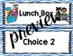 Classroom Decor: Whats for Lunch: Rainbows and Stripes: (editable)