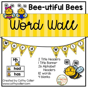 Classroom Decor: Word Wall Bees
