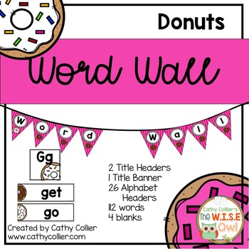 Classroom Decor: Word Wall Donuts