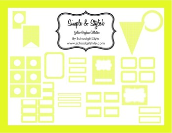 Classroom Decor and Organization Yellow Gingham
