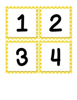 Classroom Decor - Yellow Polka Dot
