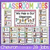 Classroom Decor Classroom Jobs Chevron