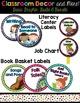 Classroom Decor and Labels Bundle- Aqua Polka Dots