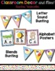 Classroom Decor and Labels Bundle- Rainbow Watercolor Theme