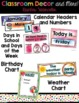 Classroom Decor and Labels Bundle- Rainbow Watercolor Theme