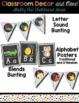 Classroom Decor and Labels Bundle- Shabby Chic Rustic Wood Shiplap Chalkboard