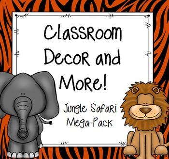 Classroom Decor and More!... Jungle Safari Mega-Pack