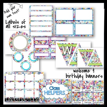 Classroom Decor and More!! Paint Splotches Theme - Editable!