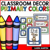 Classroom Decor-Primary Colors