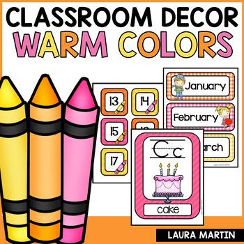 Classroom Decor-Warm Colors