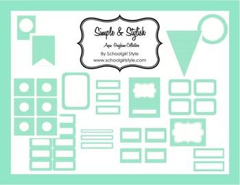 Classroom Decor and Organization Aqua Gingham