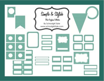 Classroom Decor and Organization Blue Gingham