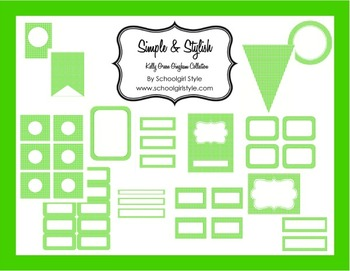 Classroom Decor and Organization Kelly Green Gingham