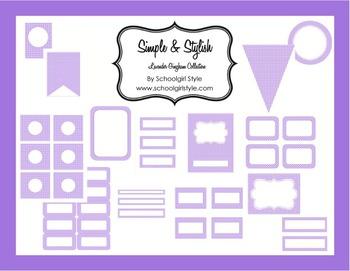 Classroom Decor and Organization Lavender Gingham