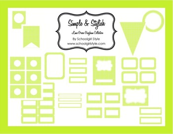 Classroom Decor and Organization Lime Green Gingham