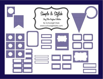 Classroom Decor and Organization Navy Gingham