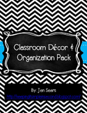 Classroom Decor and Organization Pack (Black and White)