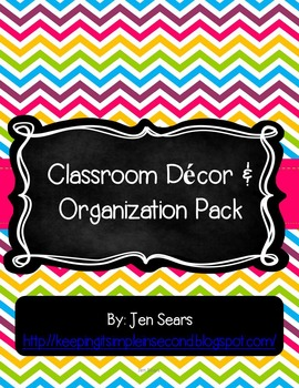 Classroom Decor and Organization Pack (Bright)