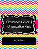 Classroom Decor and Organization Pack (Bright)